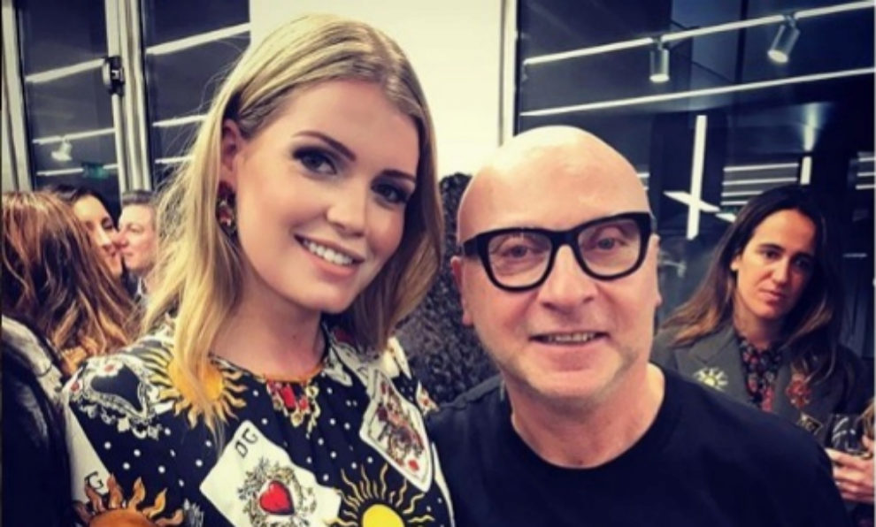 Kitty Spencer con Domenico Dolce.