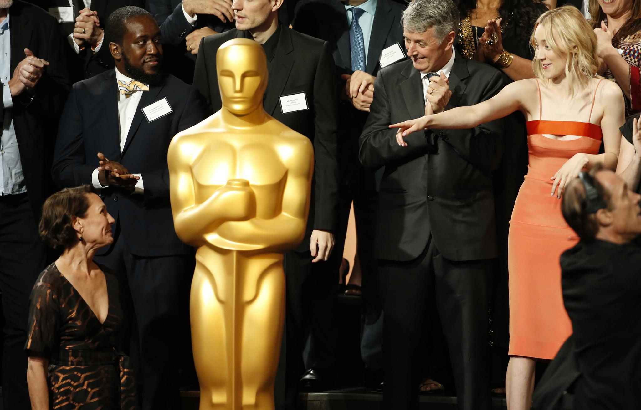 Saoirse Ronan en la ceremonia en la que se anunciaron los nominados a...