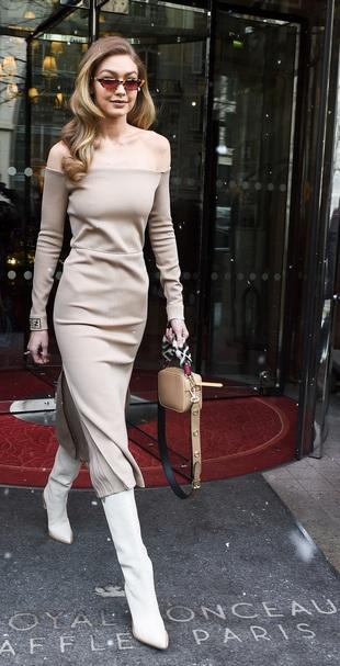 Gigi Hadid en la semana de la moda de París