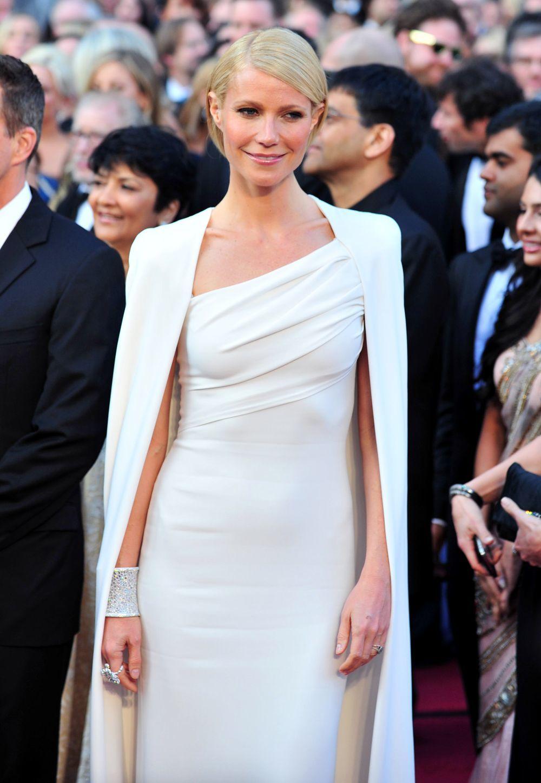 En 2012 Gwyneth Paltrow Con Un Vestido En Blanco Impoluto