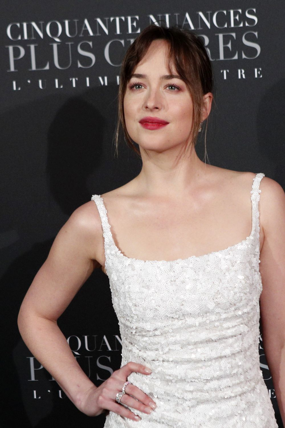 Dakota Johnson en la premiere de 50 sombras Freed