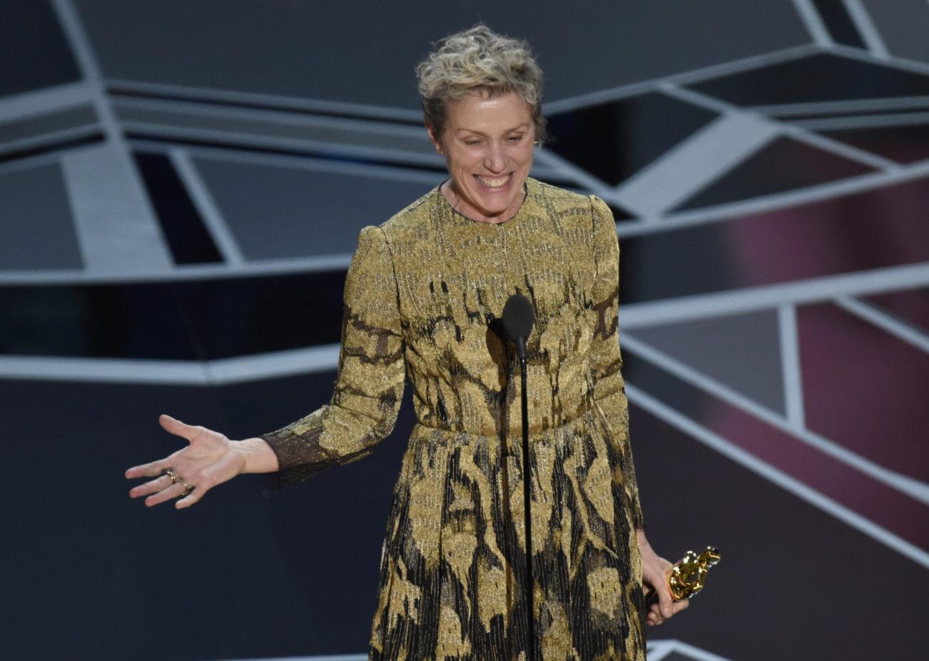 Frances McDormand, Oscar a la mejor actriz por Tres anuncios a las...