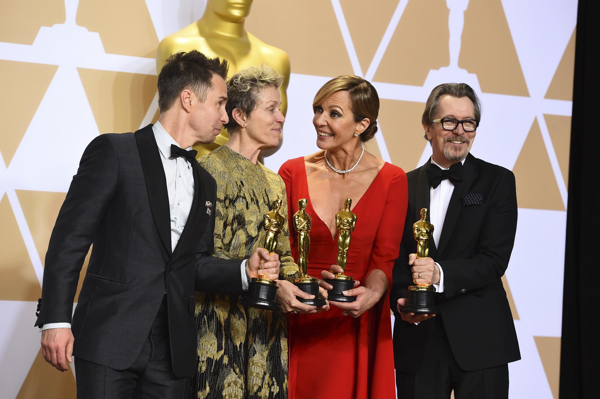 Sam Rockwell, Frances McDormand, Allison Janney y Gary Oldman en los...