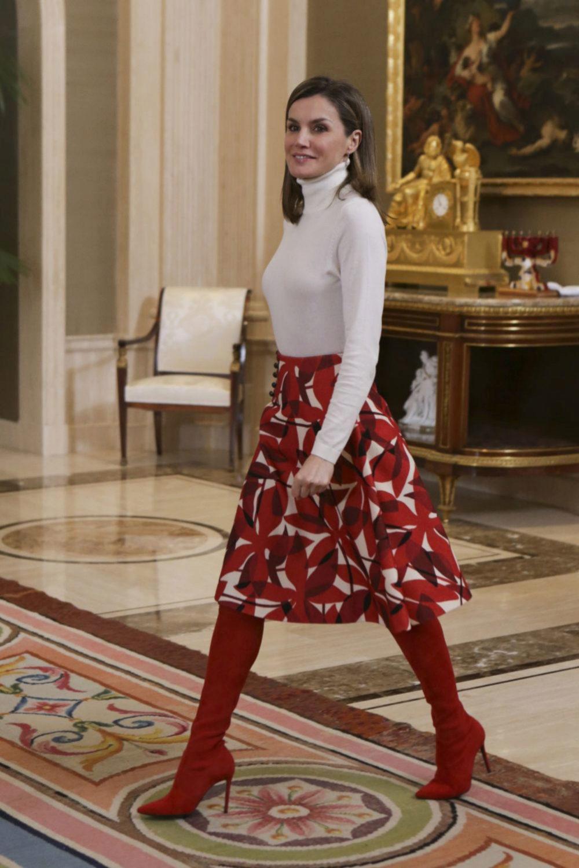 Reina Letizia en la presentación del grupo olímpico español.