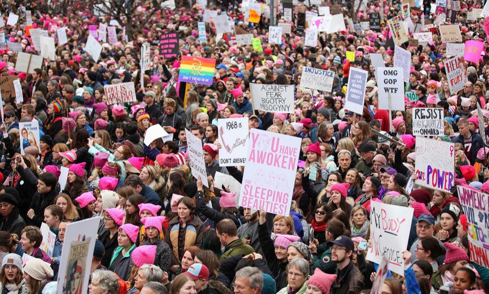 La marcha de las mujeres en Washington.