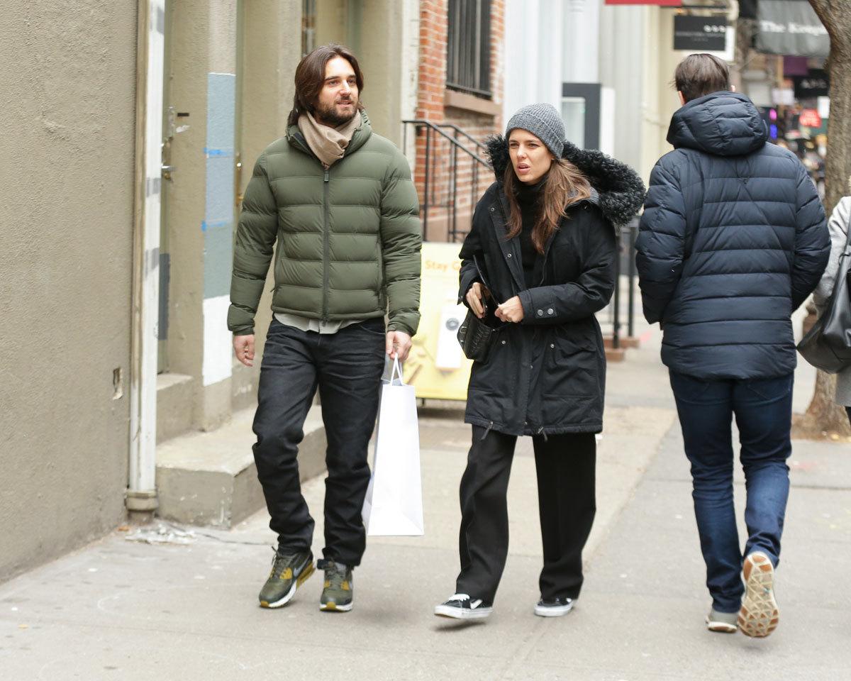 Carlota Casiraghi y Dimitri Rassam por las calles de Nueva York.