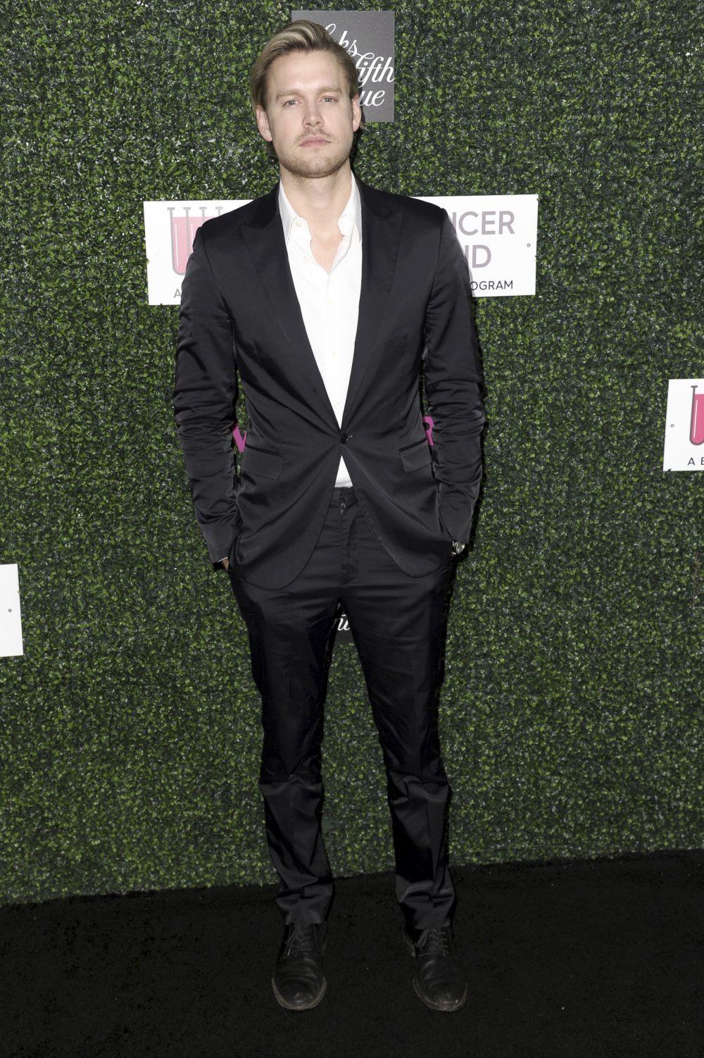 El actor  Chord Overstreet, uno de los protagonistas de la serie...