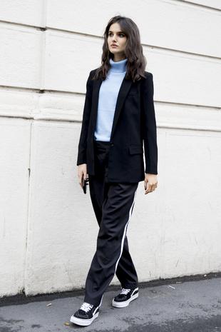 La modelo Blanca Padilla en la semana de la moda de Milán