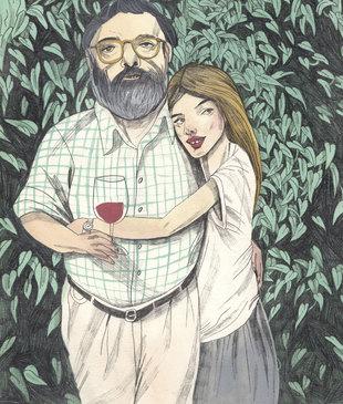 En la imagen, ilustración de Francis y Sofía Coppola.