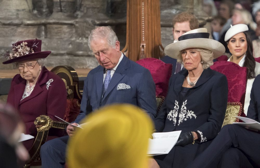 La Familia Real británica durante los actos de Commonwealth.