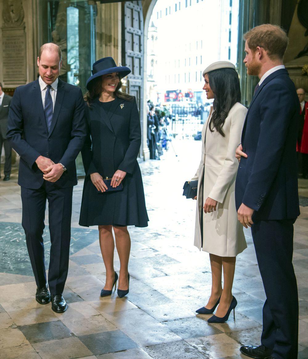 Los Duques de Cambridge junto a Meghan Markle y el príncipe Harry.