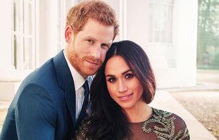 Meghan Markle y el príncipe Harry en una de las fotos oficiales de...