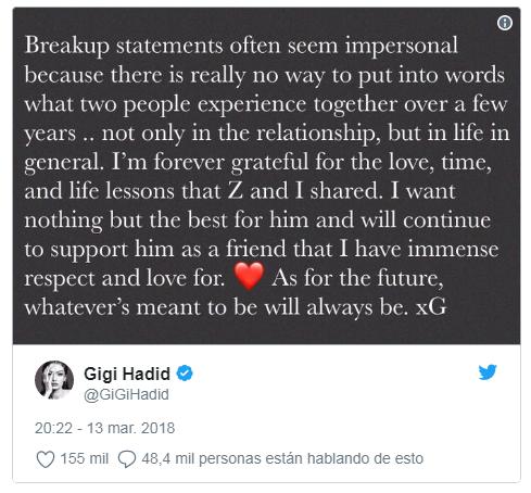 Twitter Gigi Hadid.