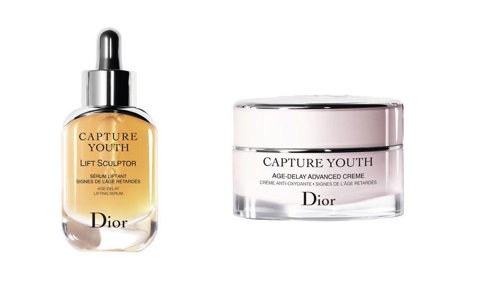 Lift Sculptor y crema hidratante Capture Youth, todo de Dior.