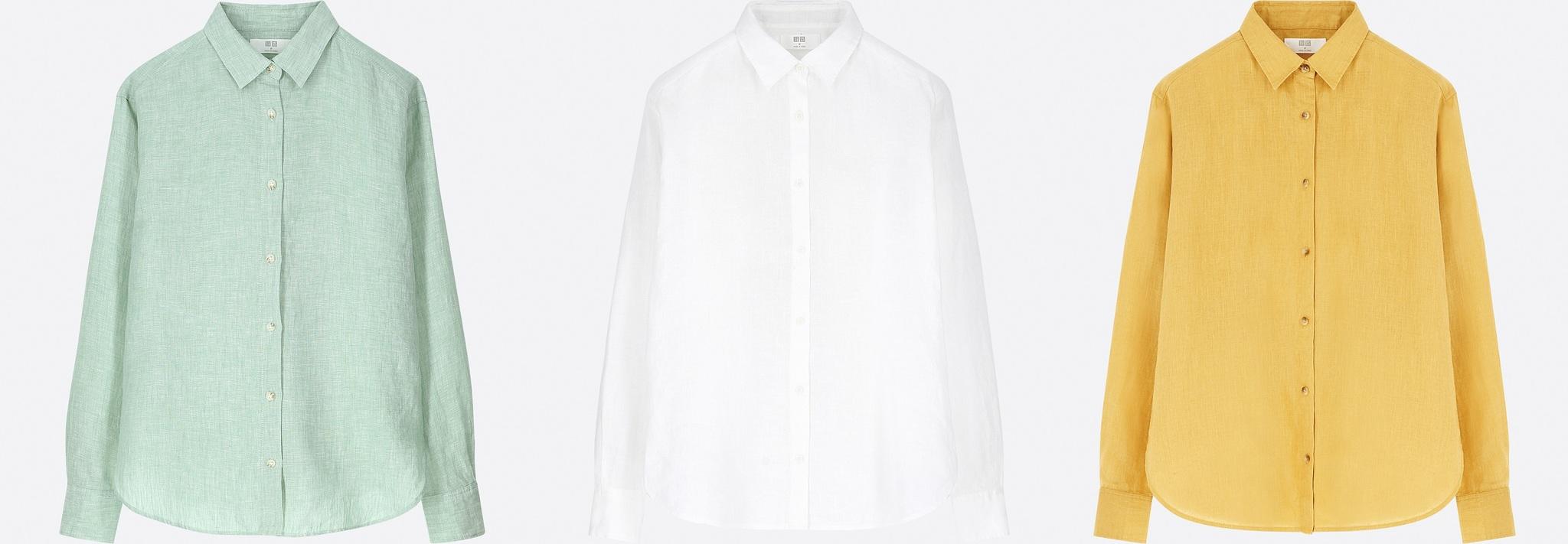 Camisas de la colección Uniqlo 2018.