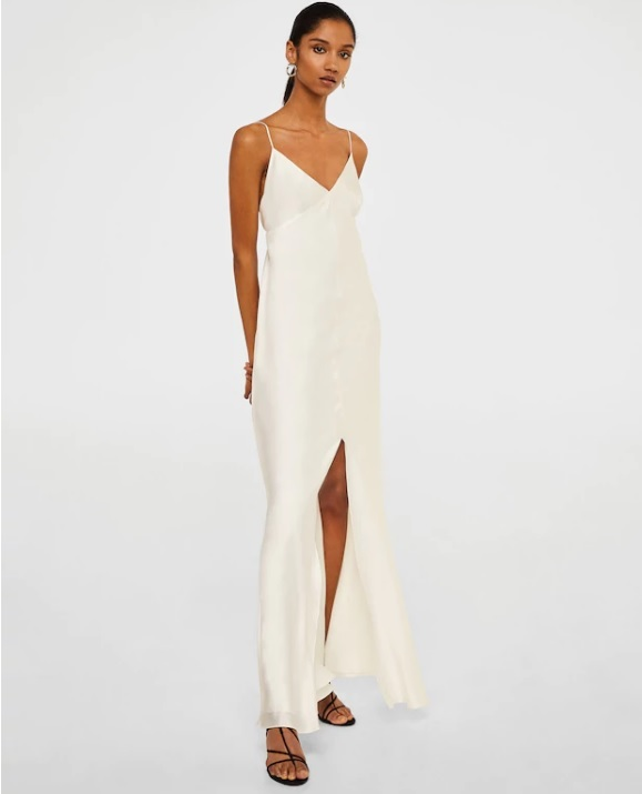 Vestido lencero de Mango (199,99 euros).