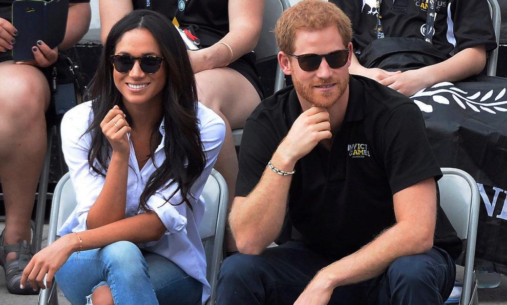Meghan Markle y el príncipe Harry durante los juegos Invictus.
