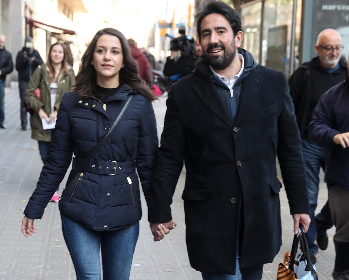 Inés Arrimadas con su marido Xavier Cima.
