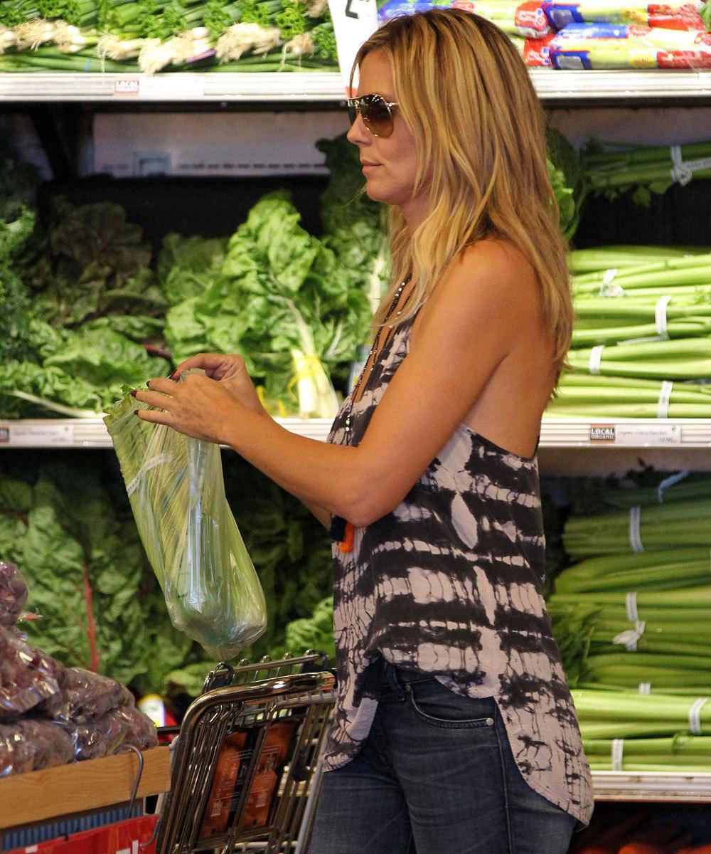 Heidi Klum, otra de las fans del apio como verdura depurativa para sus...