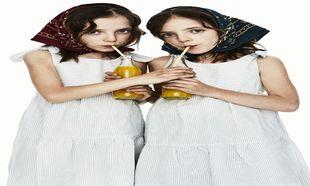 Las gemelas Blanca y María, con vestido de rayas, Mi pequeño Lucas,...