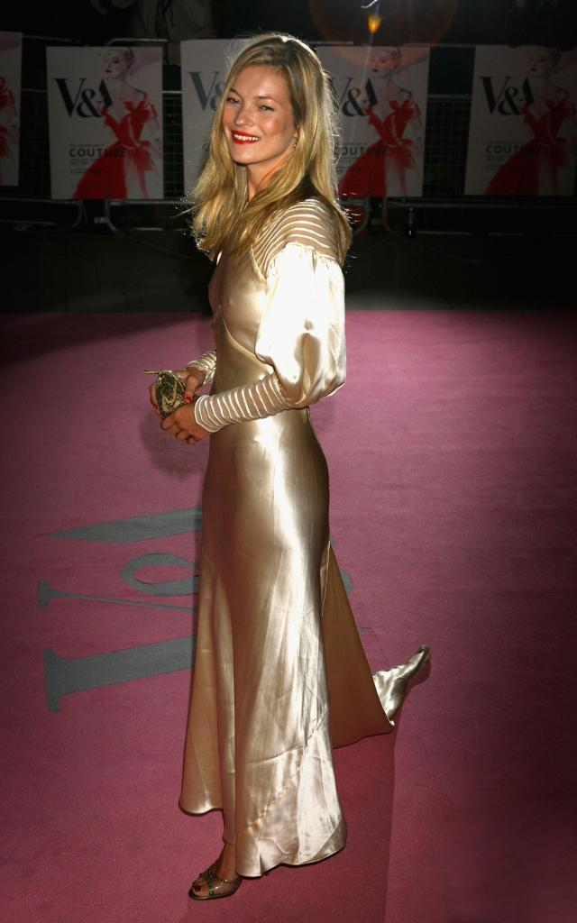 Kate Moss a su llegada a la fiesta The Golden Age Of Couture en 2007.