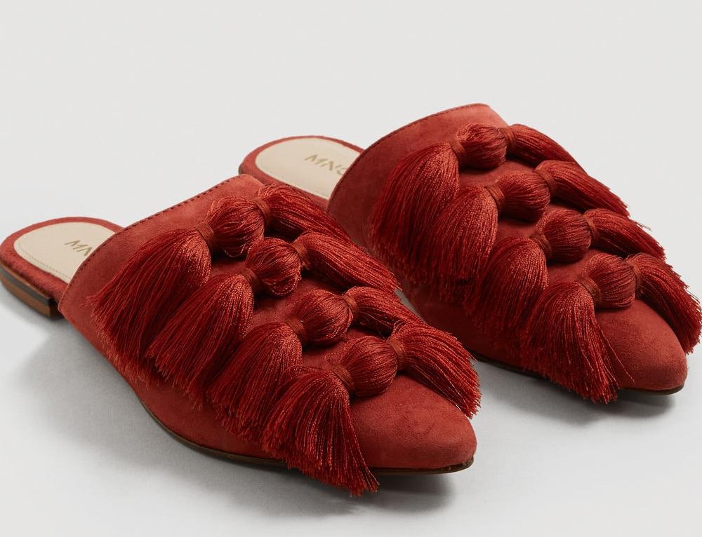 Zapatos de piel con borlas de Mango (39,99 euros)