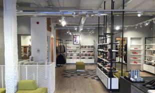 Nueva flagship store de Geox en la calle Serrano (Madrid).