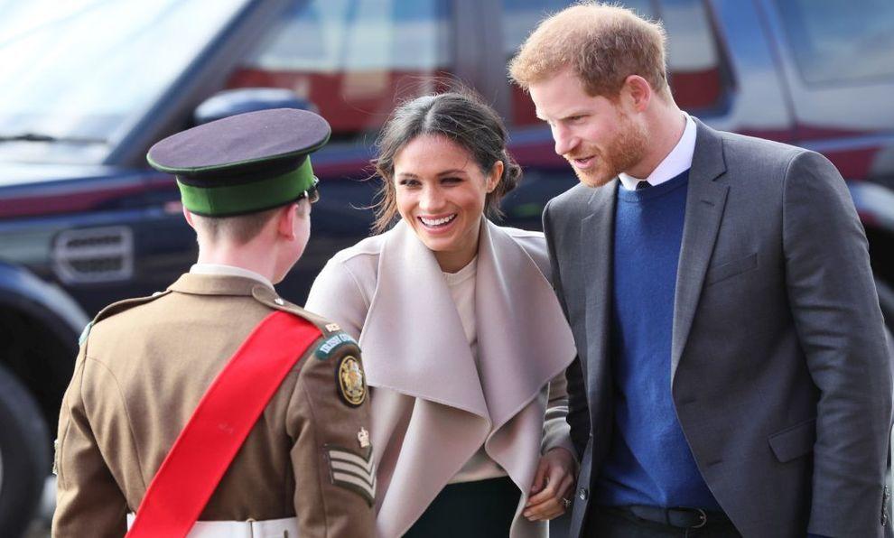 El príncipe Harry y Meghan Markle en Irlanda del Norte.
