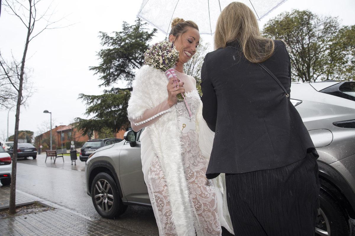 Detalle del vestido de novia de Gemma Mengual.