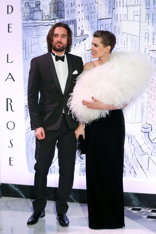 Carlota Casiragui y Dimitri Rassam en el Baile de la Rosa 2018.
