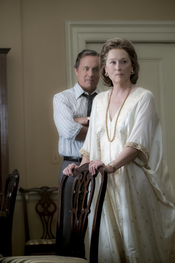 Meryl Streep y Tom Hanks en una escena de Los archivos del Pentágono.