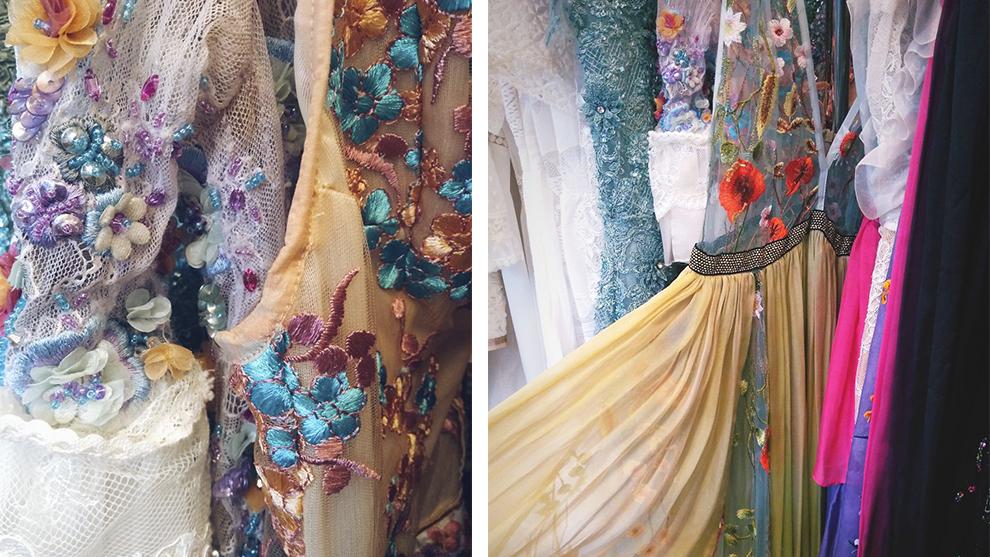 Detalles de vestidos de Virgina Vald en Ibiza Bridal Week