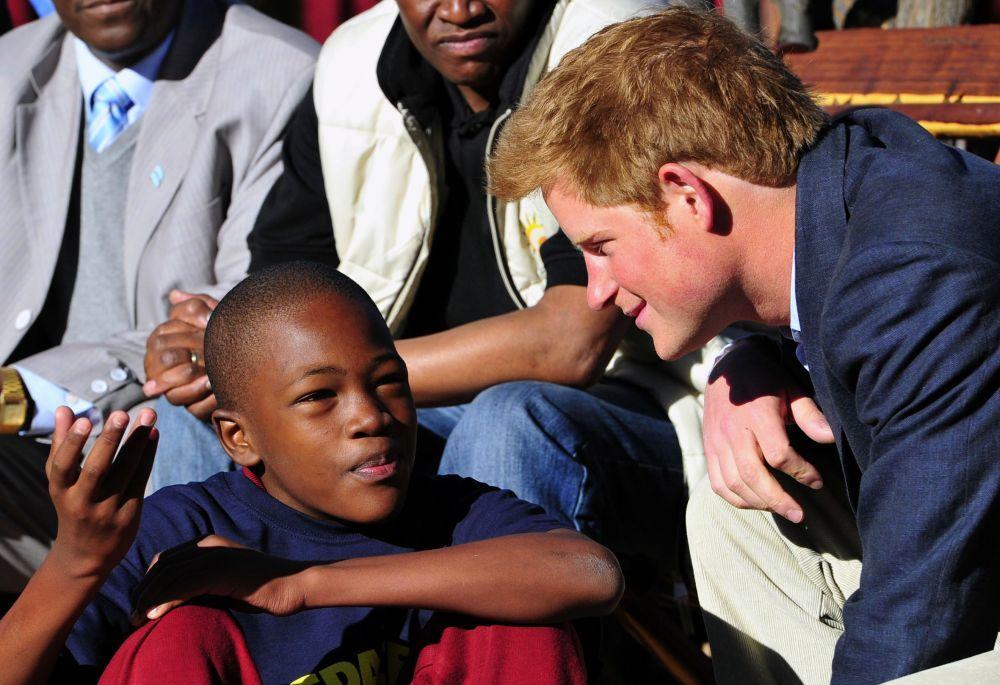 El príncipe Harry en Botswana.
