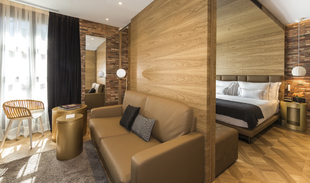 Una de las suites del Hotel Monument, decoradas por Mercè Borrell en...