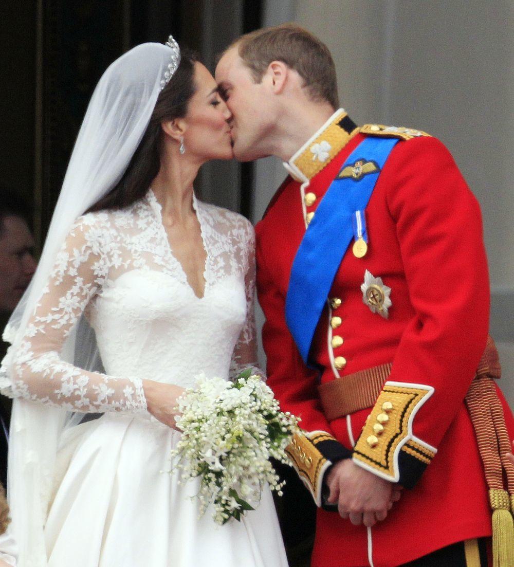 Kate Middleton y el príncipe Guillermo el día de su boda.