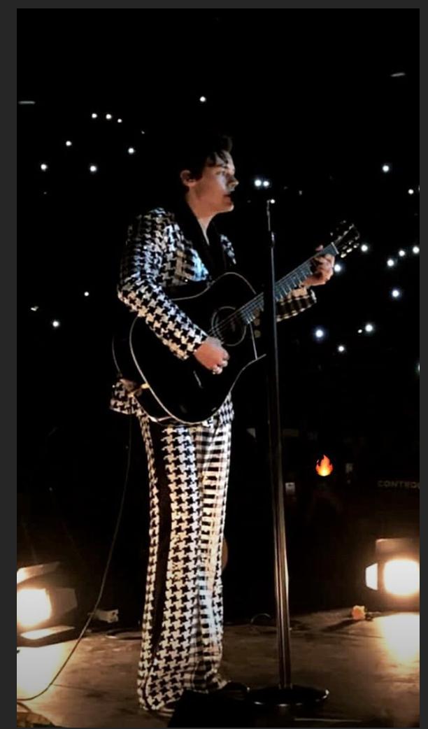 Harry Styles en su concierto en Barcelona.