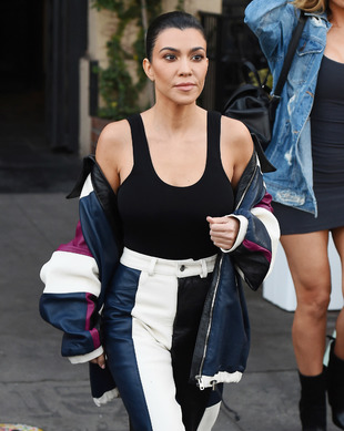 Kourtney Kardashian en Los Angeles.