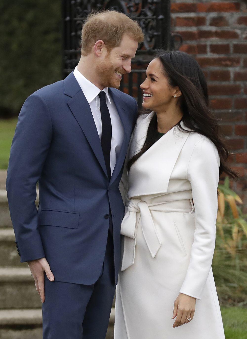 Harry y Meghan el día que anunciaron su compromiso.
