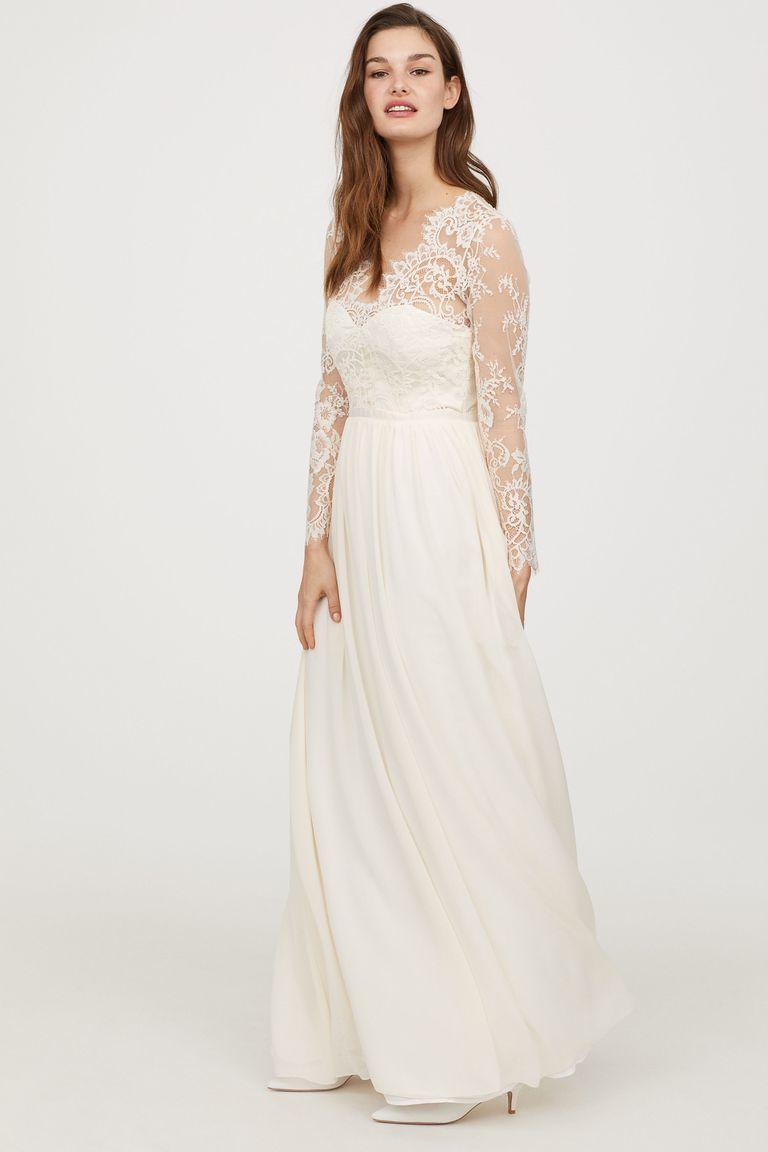 """Modelo """"vestido de encaje"""" de H&M"""