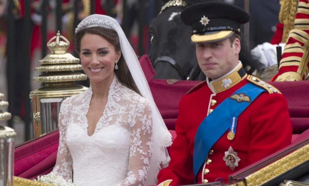 Los Duques de Cambridge el día de su boda.