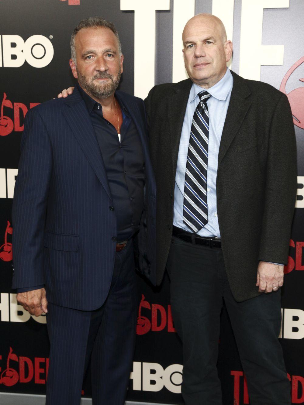 David Simon junto al guionista George Pelecanos.