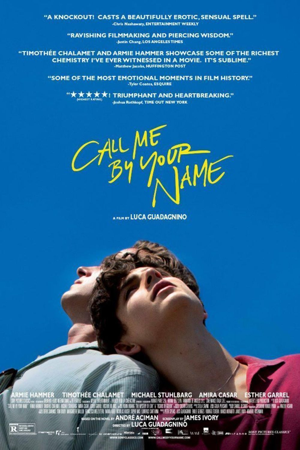 Cartel de la película Call me be your name.
