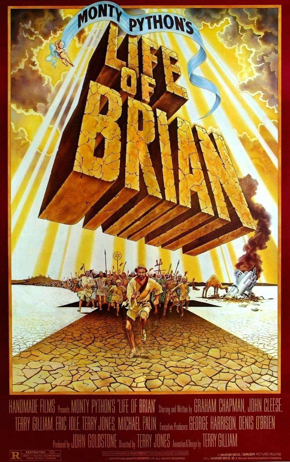 Cartel de la película La vida de Brian.