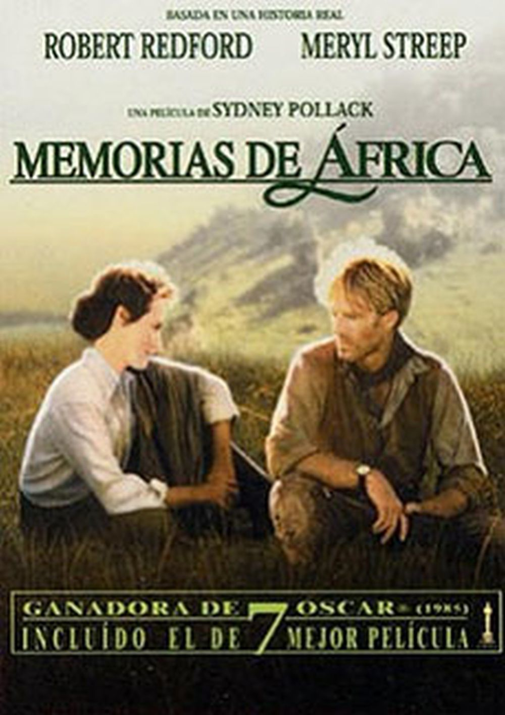 Cartel de la película Memorias de África.