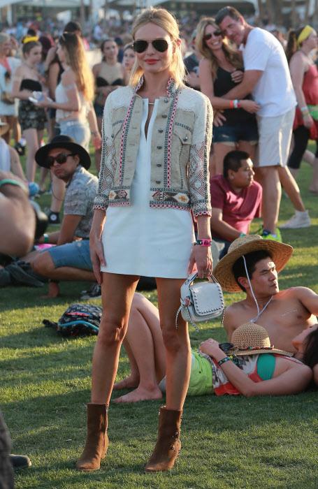 Kate Bosworth con cazadora de Isabel Marant en Coachella.
