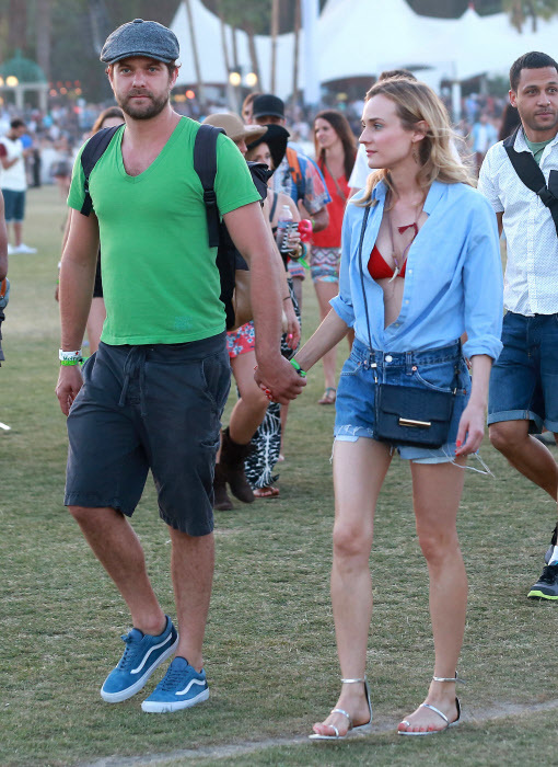 Diane Kruger y Joshua Jackson en 2015 en Coachella