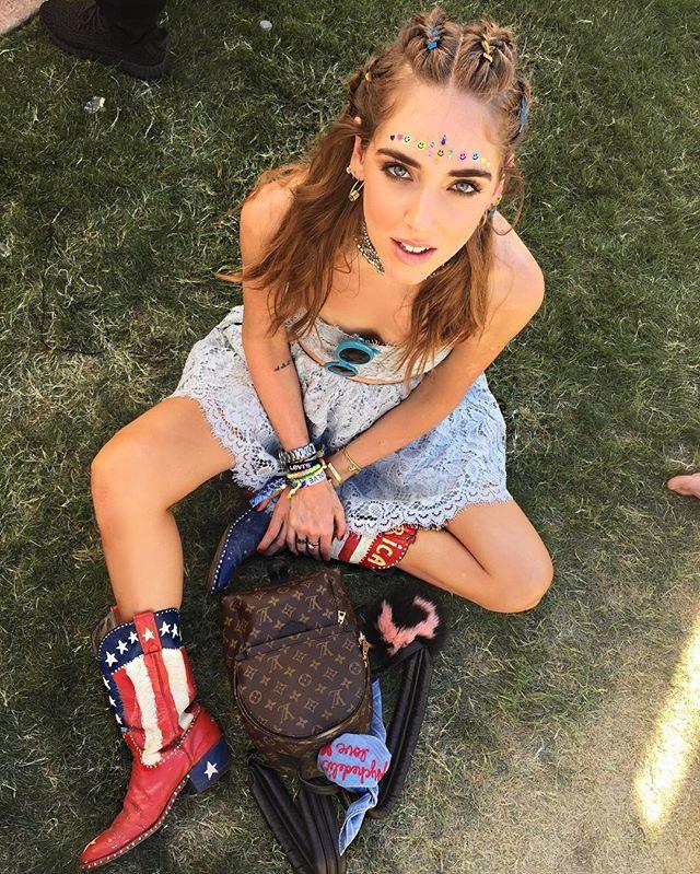 Chiara Ferragni en el festival de Coachella.
