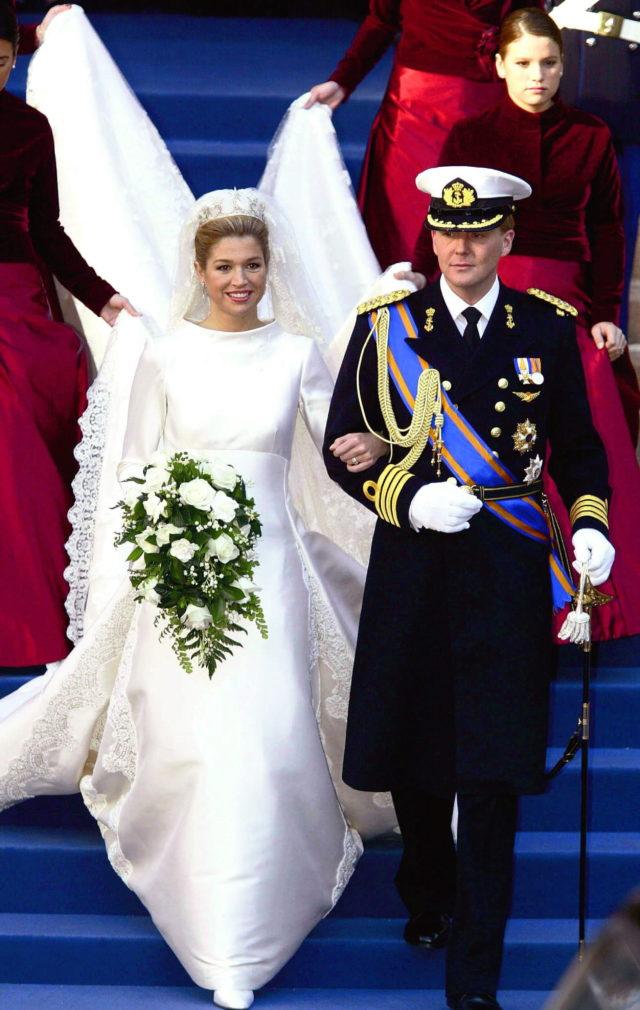 máxima de holanda | los vestidos de novia más espectaculares