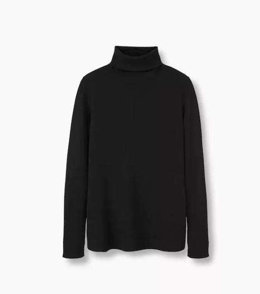 Jersey de cuello vuelto Mango (19,99 euros).