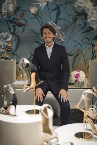 Edgardo Osorio, director creativo de Aquazzura, en la inauguración de...